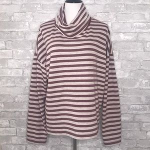 J. Crew striped tunnel neck pullover